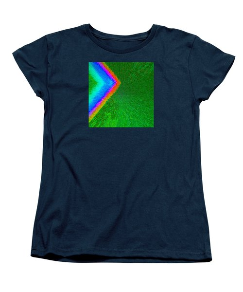 Women's T-Shirt (Standard Cut) featuring the painting Chevron Rainbow C2014 by Paul Ashby