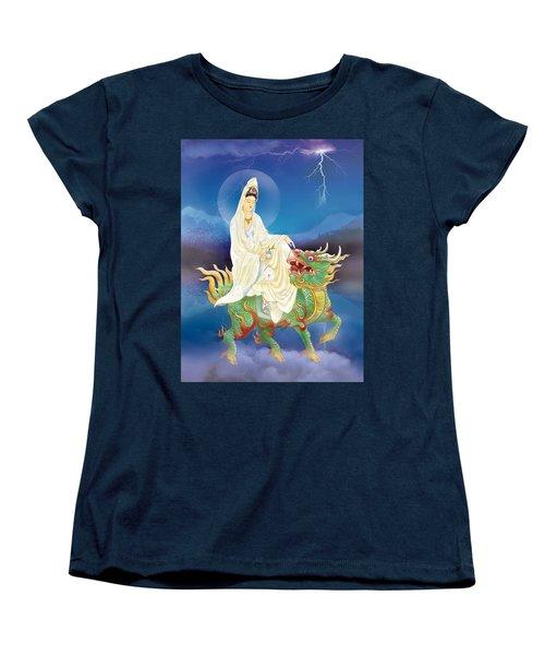 Chi Lin Kuan Yin Women's T-Shirt (Standard Cut) by Lanjee Chee