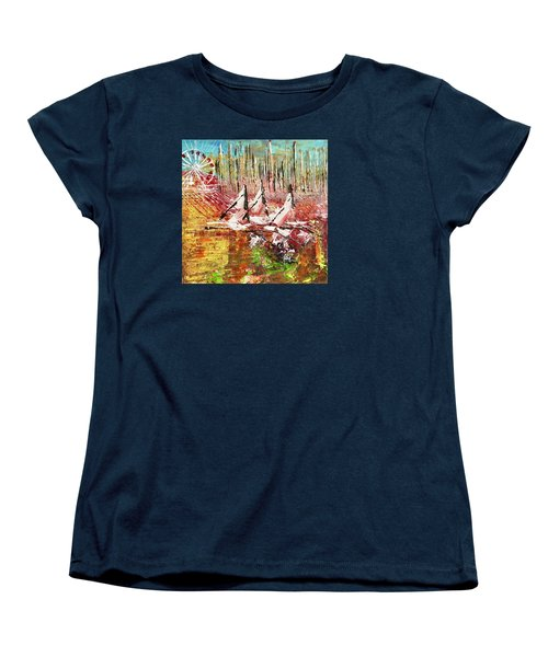 Chicago At It's Best  Women's T-Shirt (Standard Cut) by George Riney