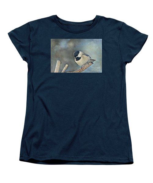 Chickadee With Texture Women's T-Shirt (Standard Cut) by Debbie Portwood