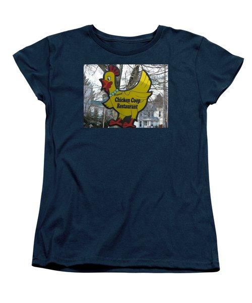 Chicken Coop Women's T-Shirt (Standard Cut) by Michael Krek