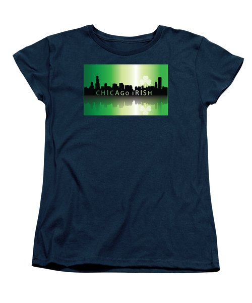 Chigago Irish Women's T-Shirt (Standard Cut) by Ireland Calling