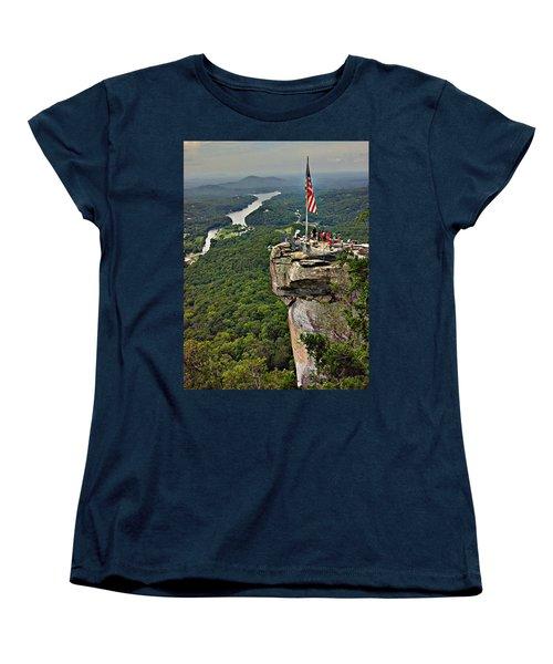Women's T-Shirt (Standard Cut) featuring the photograph Chimney Rock Overlook by Alex Grichenko