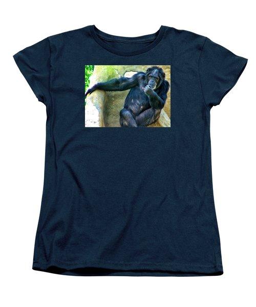 Women's T-Shirt (Standard Cut) featuring the photograph Chimp 1 by Dawn Eshelman