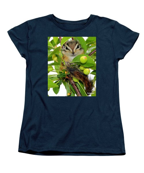 Women's T-Shirt (Standard Cut) featuring the photograph Chip Or Dale by Barbara Chichester