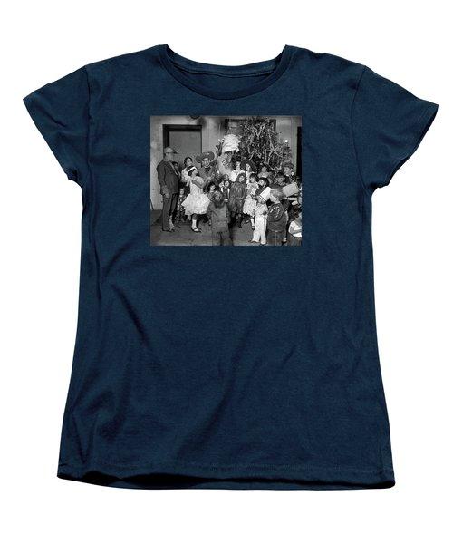 Women's T-Shirt (Standard Cut) featuring the photograph Christmas, 1925 by Granger