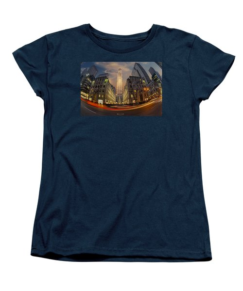 Christmas At Rockefeller Center Women's T-Shirt (Standard Cut) by Susan Candelario