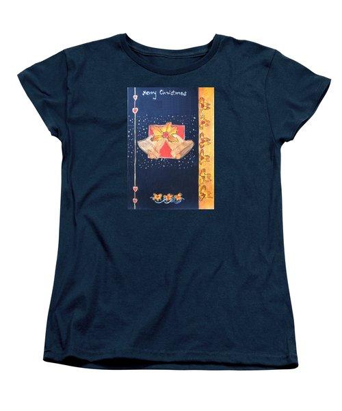 Christmas Bells Women's T-Shirt (Standard Cut) by Magdalena Frohnsdorff