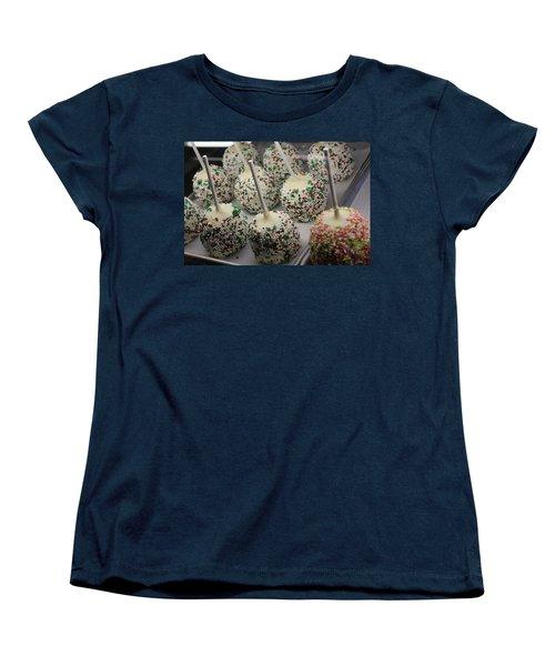 Women's T-Shirt (Standard Cut) featuring the photograph Christmas Candy Apples by Bill Owen