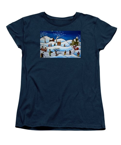 Christmas Night Women's T-Shirt (Standard Cut) by Loredana Messina
