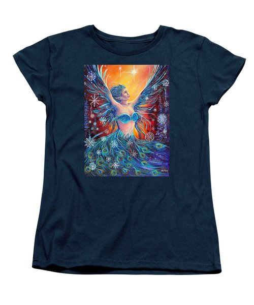 Christmas Spirit Women's T-Shirt (Standard Cut) by Gail Butler