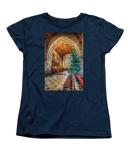 Christmas Tree Women's T-Shirt (Standard Cut) by Adrian Evans