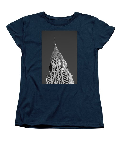 Chrysler Building Bw Women's T-Shirt (Standard Cut) by Susan Candelario