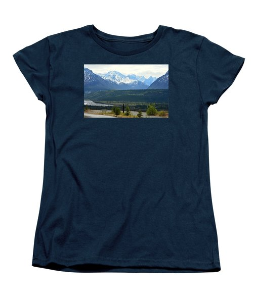 Chugach Mountains Women's T-Shirt (Standard Cut) by Andrew Matwijec