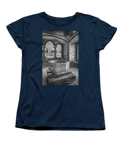 Church Christening Font Women's T-Shirt (Standard Cut) by Antony McAulay