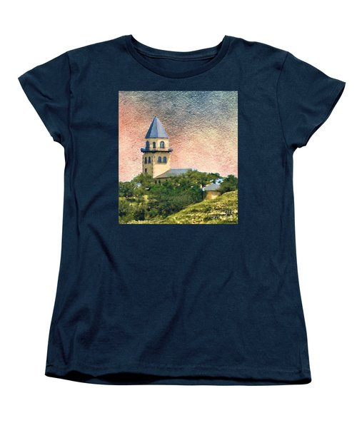 Church On Hill Women's T-Shirt (Standard Cut) by Janette Boyd
