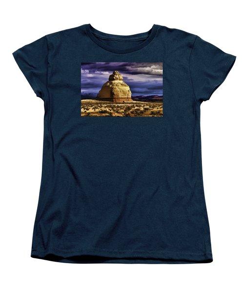 Women's T-Shirt (Standard Cut) featuring the painting Church Rock  by Muhie Kanawati