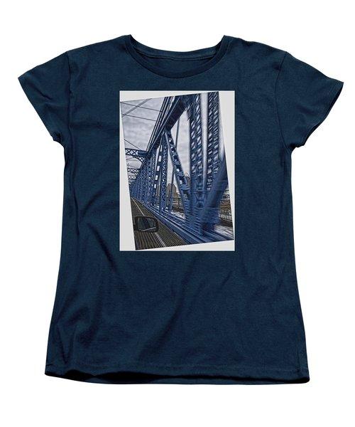 Cincinnati Bridge Women's T-Shirt (Standard Cut) by Daniel Sheldon