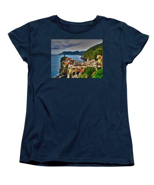 Cinque Terra Women's T-Shirt (Standard Cut) by David Gleeson