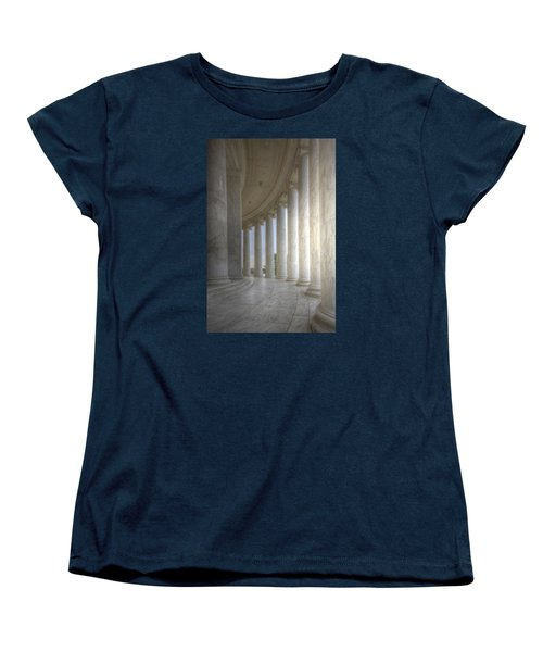 Circular Colonnade Of The Thomas Jefferson Memorial Women's T-Shirt (Standard Cut) by Shelley Neff