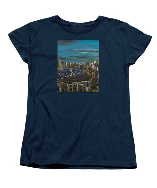 Citiscape Women's T-Shirt (Standard Cut) by Donna Blossom