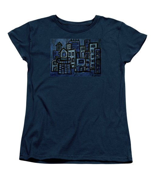 City At Night Women's T-Shirt (Standard Cut)