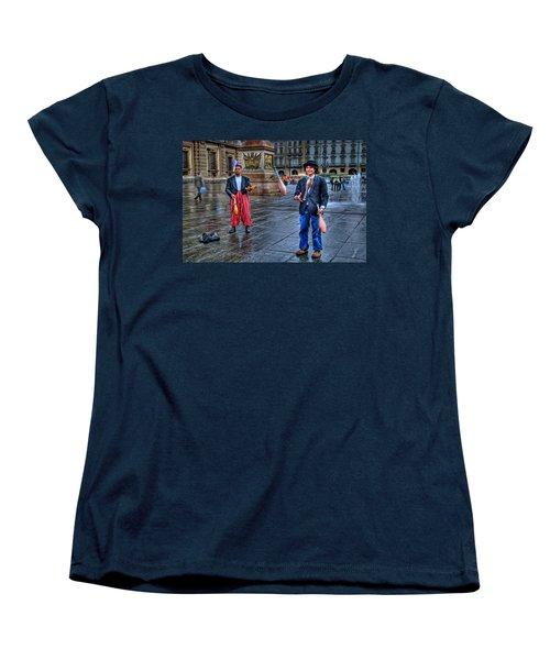 Women's T-Shirt (Standard Cut) featuring the photograph City Jugglers by Ron Shoshani