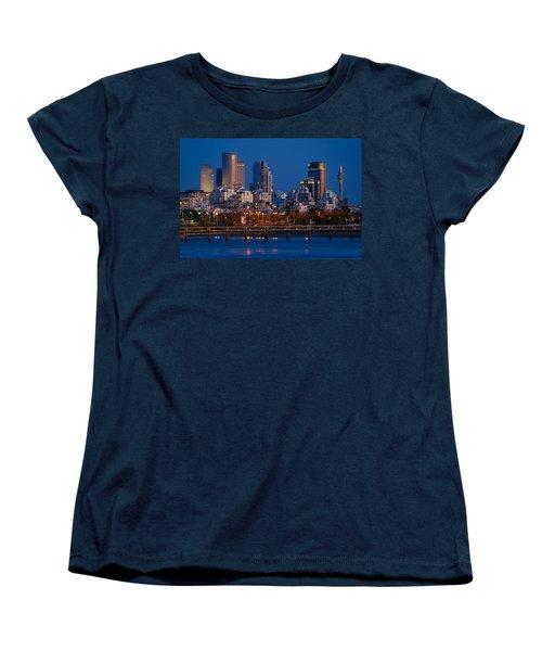 city lights and blue hour at Tel Aviv Women's T-Shirt (Standard Cut) by Ron Shoshani