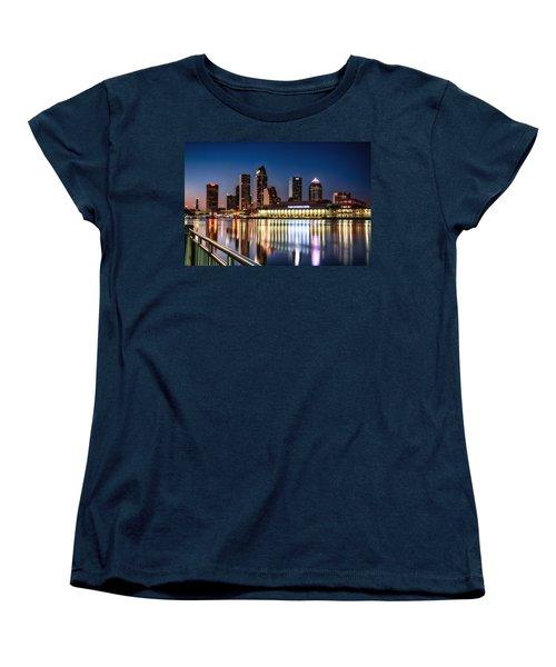 City Of Tampa Skyline  Women's T-Shirt (Standard Cut) by Michael White
