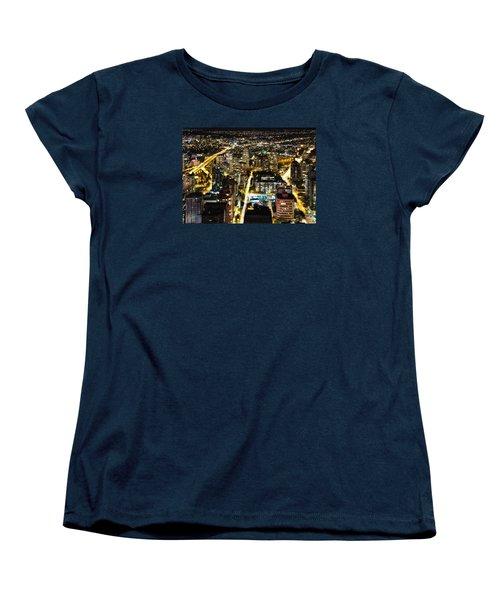 Women's T-Shirt (Standard Cut) featuring the photograph Cityscape Golden Burrard Bridge Mdlxiv by Amyn Nasser