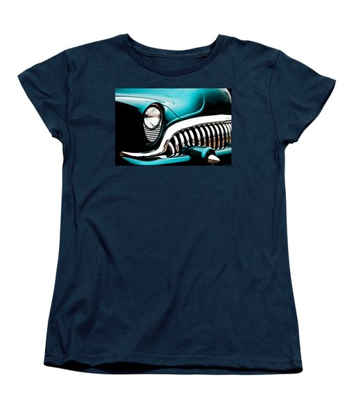 Women's T-Shirt (Standard Cut) featuring the photograph Classic Turquoise Buick by Joann Copeland-Paul