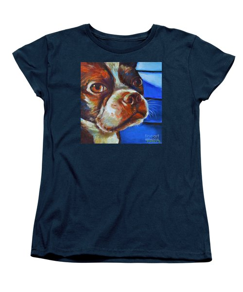 Women's T-Shirt (Standard Cut) featuring the painting Classy Hank by Robert Phelps