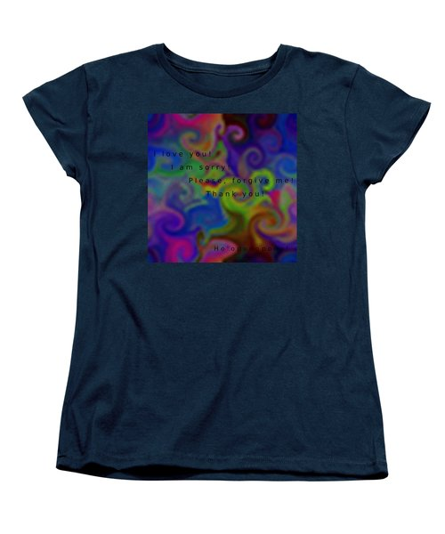 Women's T-Shirt (Standard Cut) featuring the digital art Cleansing Prayer by Manuela Constantin