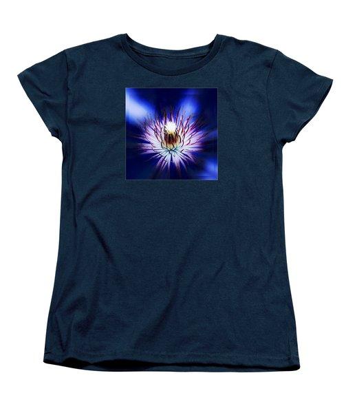 Clemantis Center Women's T-Shirt (Standard Cut) by Nick Kloepping