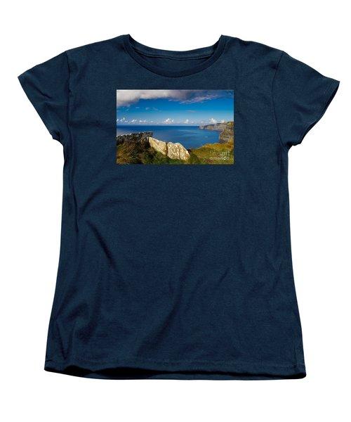 Women's T-Shirt (Standard Cut) featuring the photograph Cliffs Of Moher by Juergen Klust
