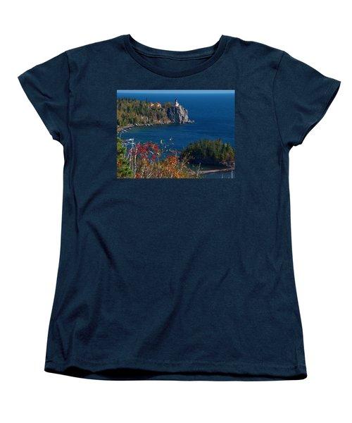 Cliffside Scenic Vista Women's T-Shirt (Standard Cut) by James Peterson