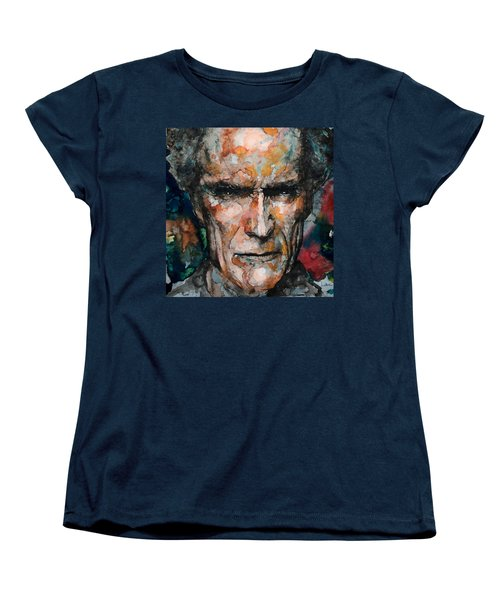 Clint Eastwood Women's T-Shirt (Standard Cut) by Laur Iduc