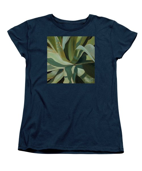 Women's T-Shirt (Standard Cut) featuring the painting Close Cactus by Debbie Hart