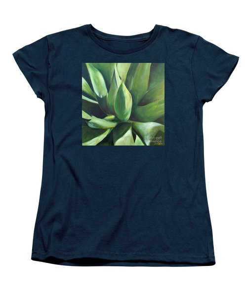 Close Cactus II - Agave Women's T-Shirt (Standard Cut) by Debbie Hart