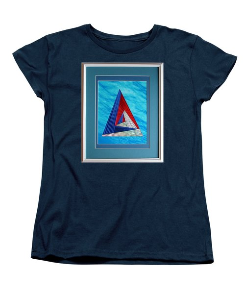 Women's T-Shirt (Standard Cut) featuring the mixed media Close Encounter by Ron Davidson