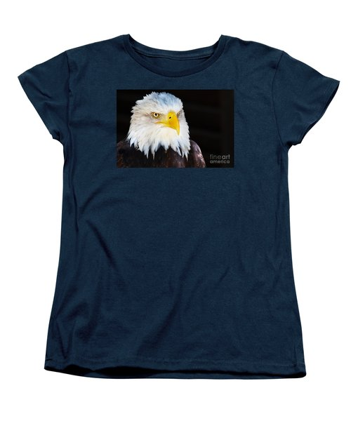 Closeup Portrait Of An American Bald Eagle Women's T-Shirt (Standard Cut) by Nick  Biemans