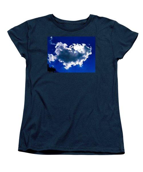 Cloud Women's T-Shirt (Standard Cut) by Nick Kirby