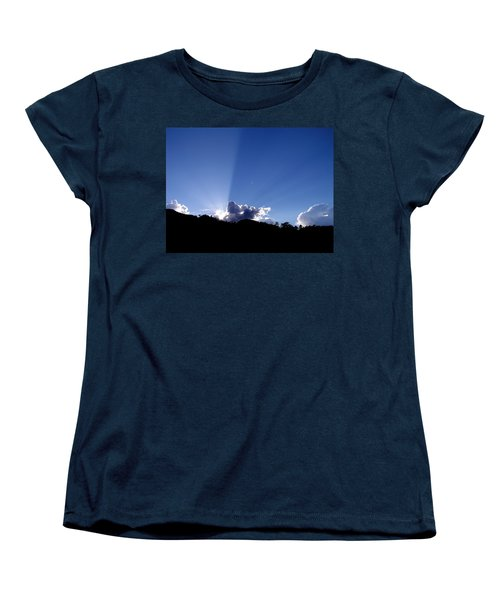 Women's T-Shirt (Standard Cut) featuring the photograph Cloud Rays by Craig T Burgwardt