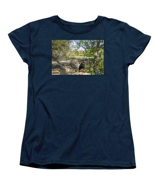 Clover Valley Park Bridge Women's T-Shirt (Standard Cut) by Jim Thompson