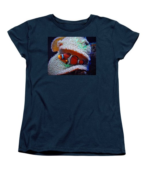 Women's T-Shirt (Standard Cut) featuring the photograph Clown Fish by Savannah Gibbs
