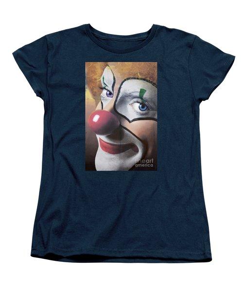 Clown Mural Women's T-Shirt (Standard Cut) by Bob Christopher