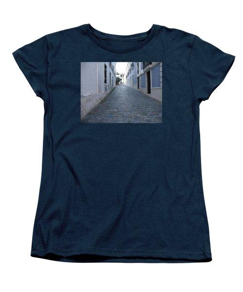Women's T-Shirt (Standard Cut) featuring the photograph Cobble Street by David S Reynolds