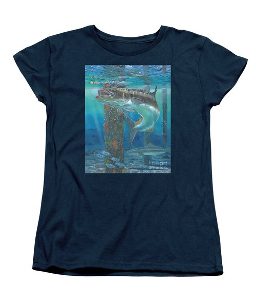 Cobia Strike In0024 Women's T-Shirt (Standard Cut) by Carey Chen