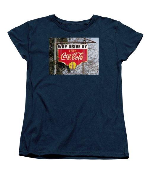 Coca-cola Sign Women's T-Shirt (Standard Cut) by Michael Krek