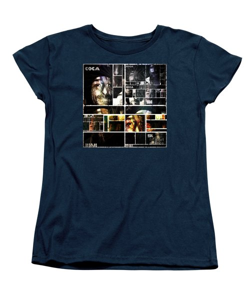 Women's T-Shirt (Standard Cut) featuring the photograph Coca In Part 5 Collage  by Sir Josef - Social Critic - ART